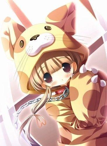 Fille manga animaux - Photo fille manga ...