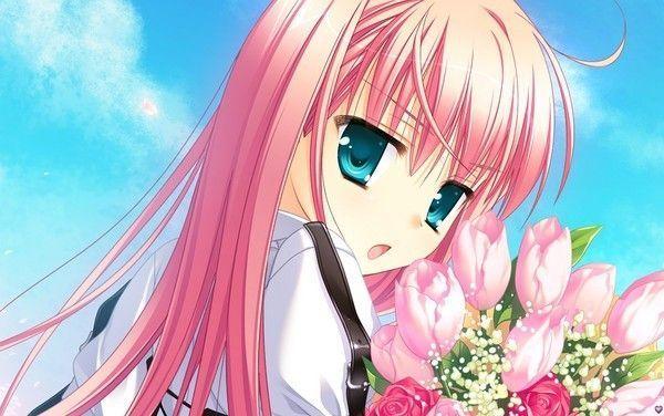 Fille manga cheveux rose - Fille manga image ...
